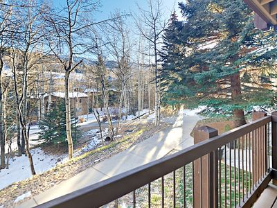 Deck - Take in mountain views and the gorgeous greenery of Snowmass Mountain on the private balcony.