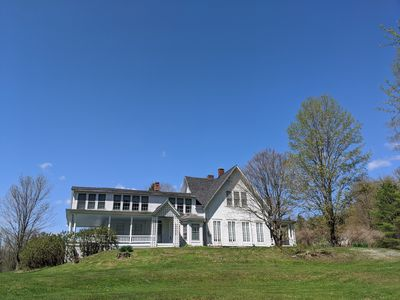 Photo for Secluded 19th century Farmhouse with mountain views