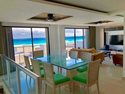 Photo for Beautiful & Spacious Ocean View Apartment on the Beach. Best Location in Cancun!