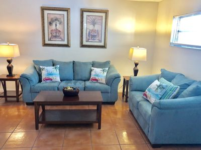 Photo for Walk to the beach from our adorable condo. Free WiFi.  Free parking.