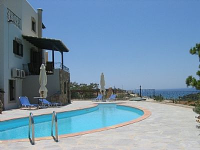 Photo for Villa Lyronda With Dolphin Shaped Pool And Lovely Mountain And Sea Views