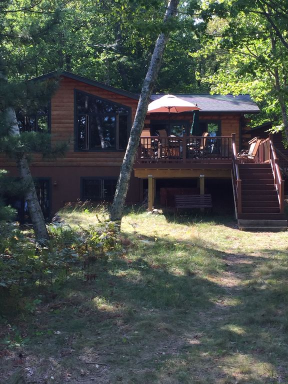 Beautiful Cabin Surrounded By Lake Views And Forest In The North Woods Of Wi
