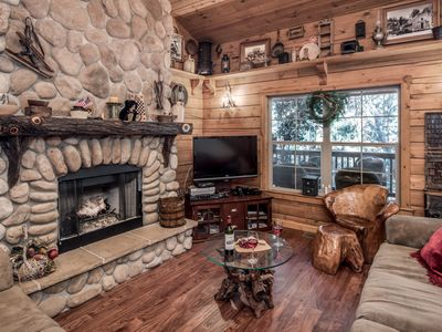 Photo for Cabin near Black Forest w/ WiFi, Fireplace, Grill, Big Screen TV & Hot Tub