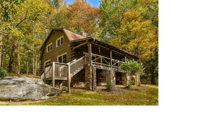Photo for Eagle's Rest Lodge with Pond & Creek; Private but Convenient