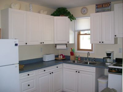 So -- this is the BEFORE --  Huge Difference -- Kitchen is ready for your stay!!