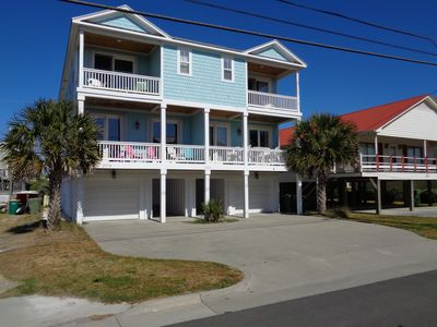 Photo for 6 BR 4 BA, Luxury Beach House Sleeps 14 with elevator! Across Street from Beach