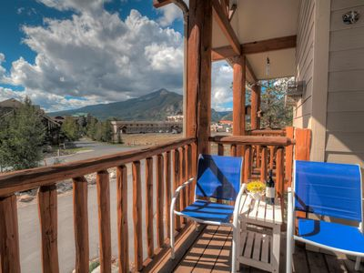 Photo for Central to Ski Resorts, Heated Garage, Hot Tub, 3 Balconies, Mountain Views