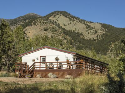 Photo for PRIVATE creekside house on cattle ranch 45 mins from Yellowstone National Park