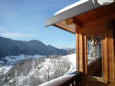 Photo for Renovated chalet with magnificent mountain views
