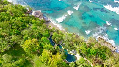 Beach club and double oceanfront pools at Sea Horse Ranch