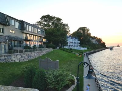 Photo for Pine River Condos on the channel in downtown Charlevoix- Unit 6 on the top floor