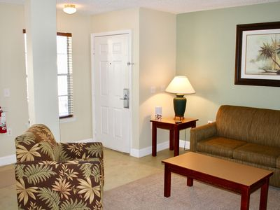 Photo for Comfy 1BR/1BA Apt, Close to Disney, Pool, Tennis Shuttle, Parking, No Resort Fee