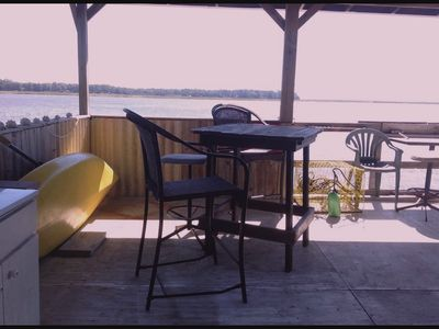 Photo for Direct Waterfront. Boat Dock on Deep Salt Water 35 miles from Savannah.