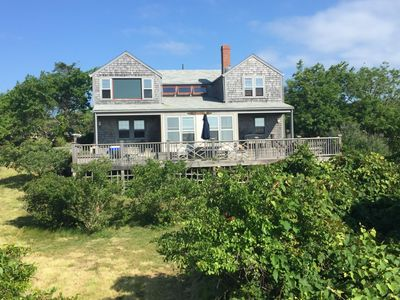 Photo for Short Walk To Pond & Ocean,  Beach Cottage In Quidnet, large deck, sweeping view