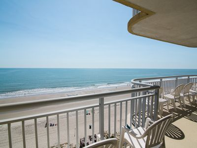 Photo for Direct Oceanfront 4BR/3BA, Large balcony, 1800 SF, Full Kitchen, Central,