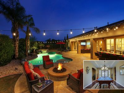 Photo for Palermo: Pool, Spa, Pool Table, Fire Pit, Patio TV