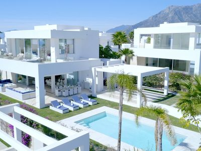 Photo for MINIMALIST STYLE WITH GLEAMING WHITE WALLS PRIVATE VILLA CLOSE TO THE BEACH