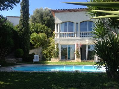 Photo for NICE hills Bellet superb villa with pool