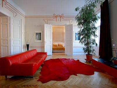 Photo for Erzsebet Royal Suite, Jugendstil apt near Andrassi Boulevard, 135sqm,WiFi, AC
