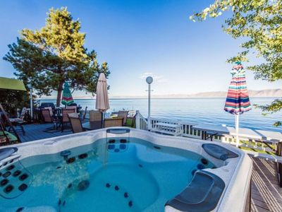 Photo for Spacious waterfront getaway w/ a furnished back deck & fun-filled game room