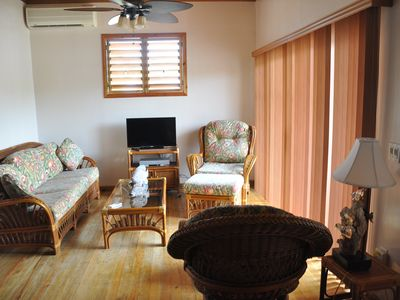 Photo for Las Palmas Beachfront  Palms Villa, Roatan Bay Islands, Honduras -