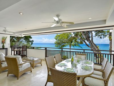 Photo for CORAL COVE 7 BARBADOS - LUXURY 3 BEDROOM BEACH FRONT CONDO ON PAYNES BAY BEACH