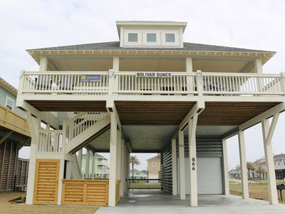 Photo for Beachfront View -- only steps from the beach - Bolivar Dunes
