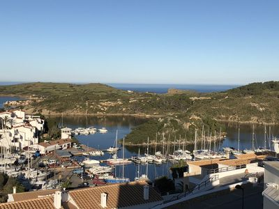 Photo for Unique location with panoramic view of the port of Addaia from every room.
