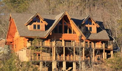 Photo for Southern Cross Cabin- Gorgeous 6 BR, Theater, Hot Tub, Game Room, Views!