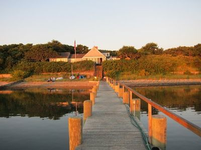 Photo for Beautiful Marthas Vineyard Waterfront Home On  Private Beach