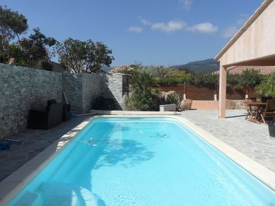 Photo for Beautiful air-conditioned villa of 140m2, 600m from the city center, Pinarello Bay