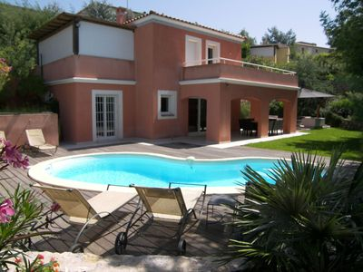 Photo for Stunning villa with 4 bed, 3 bathrooms,7 km from la Croisette, centre of Cannes