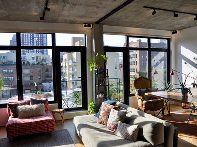 Photo for DUMBO Penthouse duplex loft with floor to ceiling windows & large terrace