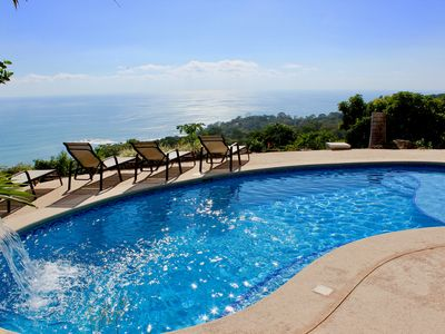 Photo for Ocean view eco-villa, pool & a cool breeze, 10 min. of the beach of Dominical