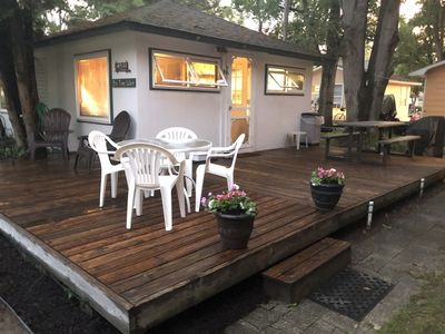 Photo for Silver Lake Cottage - Heated Pool and view of the lake from our deck! A/C added!