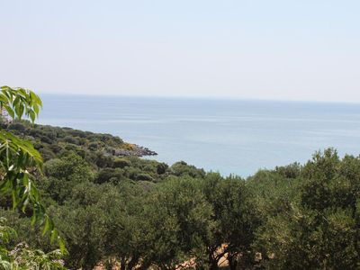 Photo for Two bedroom apartment with terrace and sea view Cove Dražica, Pag (A-6366-a)