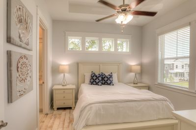 Master bedroom with plenty of natural light and private bathroom