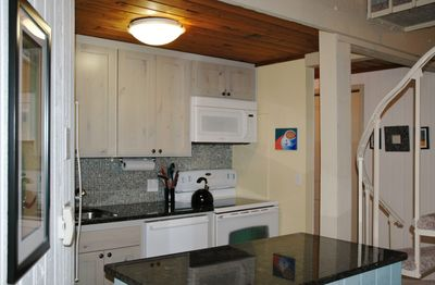 Delightful kitchen with all you need to prepare meals, have your morning coffee.