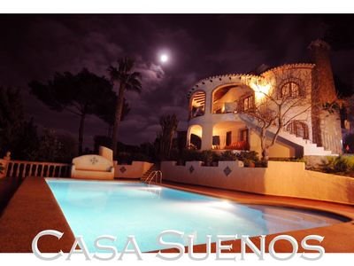 Photo for Quiet, seaviews villa with a mediteranem garden and large pool at the Cape La Nau