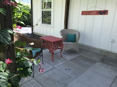 Photo for Welcome to Hidden Paradise Cottage! Close to beaches, shopping & Riverside Park!