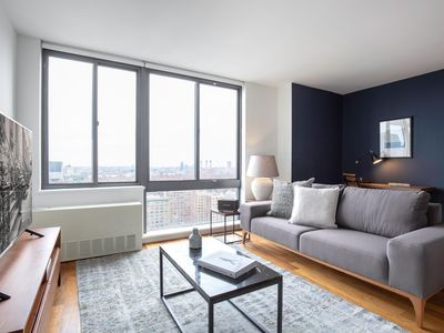Photo for Stately Gramercy Park 1BR w/ WD, Gym, Doorman, near Subway, by Blueground