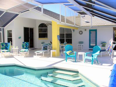 Photo for SUPERB 5* Reviews. Villa with large shaded veranda. 30x15' pool