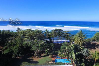 Areal view.  Proximity from pool to ocean front.