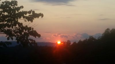 sunset from front porch