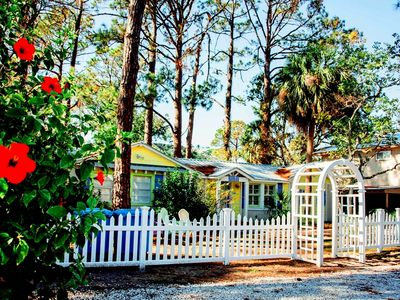 Photo for Sandy Toes c1950 Charming Ground Level Cottage 4 Blocks to Beach Pets Welcome
