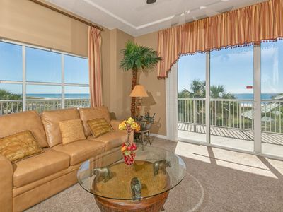 Photo for Condo w/ Beach Chairs & Umbrella, On-Site Pool & Hot Tub, Beach-Front