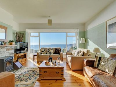 Photo for Detached holiday home with garden and unhindered view of beautiful nature and sea