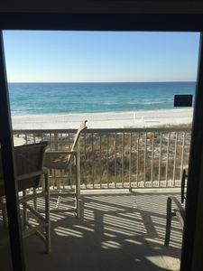 Balcony off the living room - direct on the beach