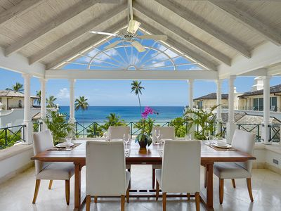 Beachfront 2 bedroom apartment with great views of the Caribbean Sea.