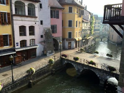 Photo for full center of Annecy, 4 * and charm, canal view, design and romantic